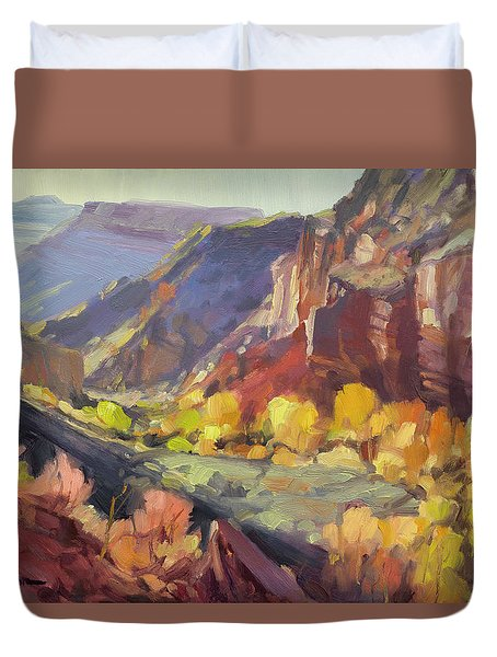 Canyon At Capitol Reef Duvet Cover