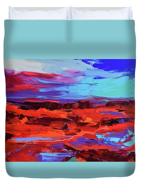 Canyon At Dusk Duvet Cover