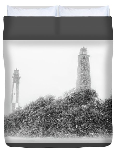 Duvet Cover featuring the photograph Cape Henry by Russell Pugh