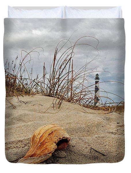 Cape Lookout Lighthouse Duvet Cover