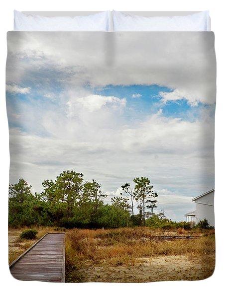 Cape Lookout Lighthouse No. 2 Duvet Cover