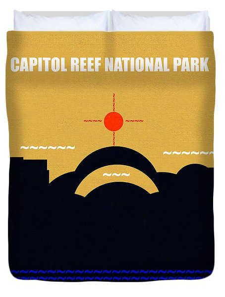 Capital Reef N. P. M Series Duvet Cover