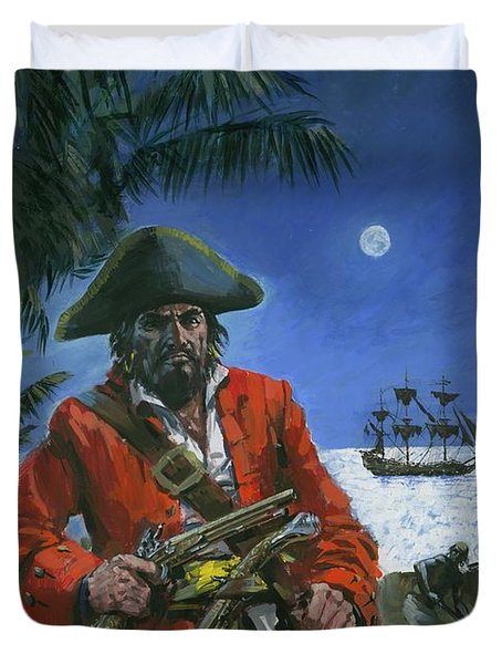 Captain Kidd Duvet Cover