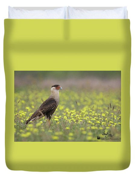 Caracara In Spring Duvet Cover