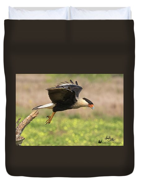Caracara Taking Off Duvet Cover