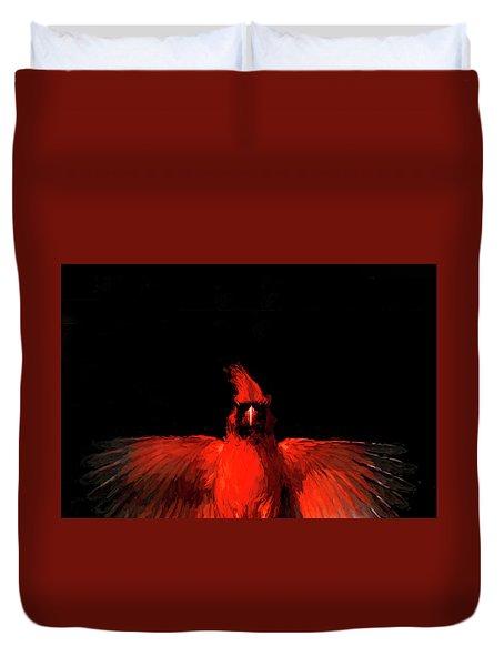 Cardinal Drama Duvet Cover