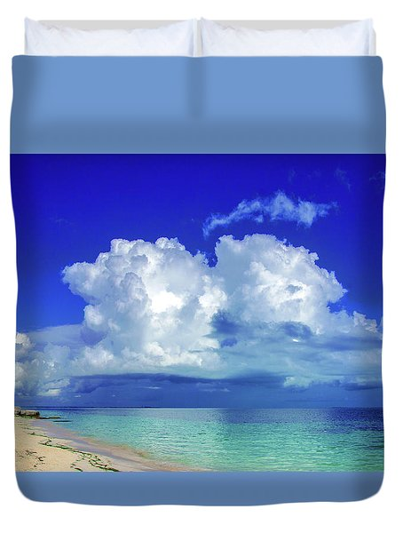 Caribbean Clouds Duvet Cover