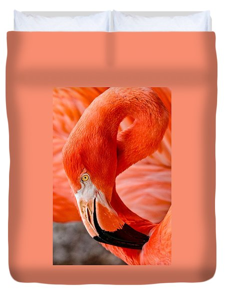 Caribbean Flamingo Duvet Cover