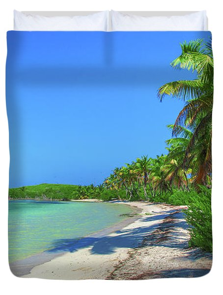 Caribbean Palm Beach Duvet Cover