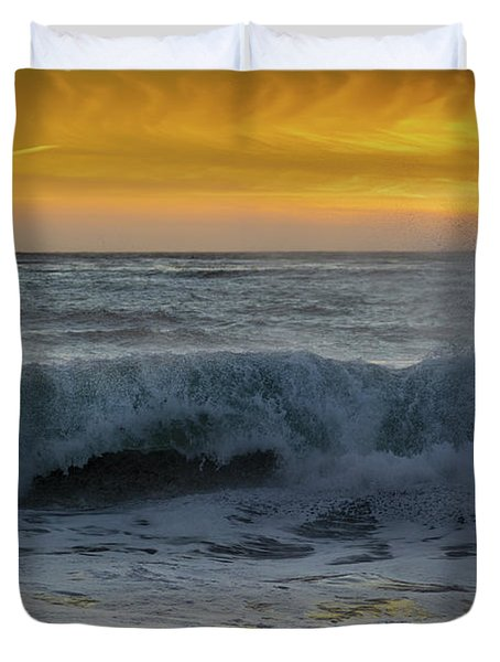 Carmel Beach Sunset California Duvet Cover