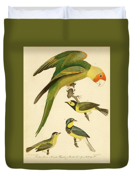 Carolina Parrot Duvet Cover