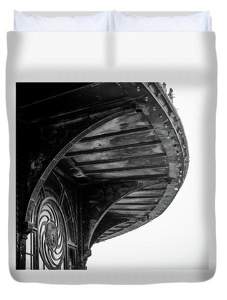 Duvet Cover featuring the photograph Carousel House Detail by Steve Stanger