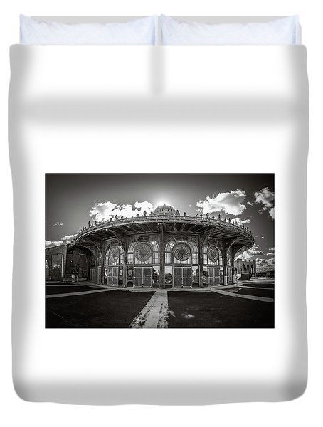 Duvet Cover featuring the photograph Carousel House by Steve Stanger