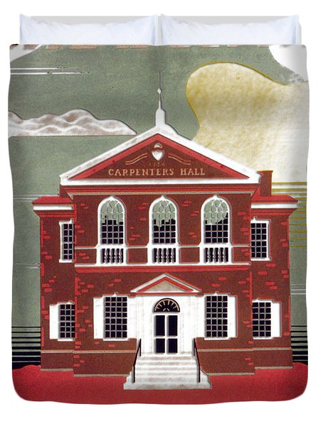 Carpenter Hall - Philadelphia - Remastered Duvet Cover