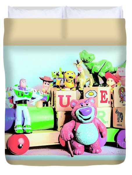 Carriage Of Cartoon Characters Duvet Cover