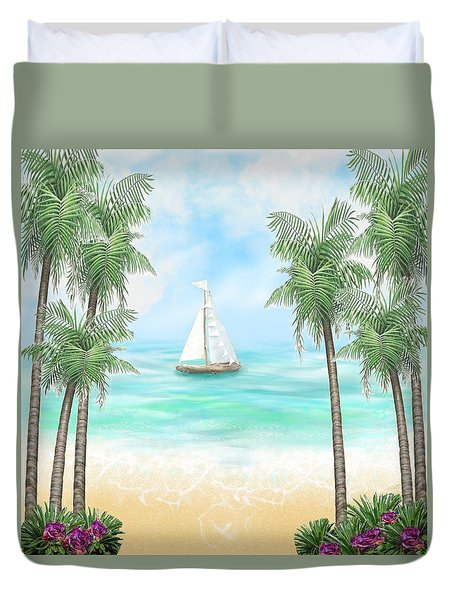 Carribean Bay Duvet Cover