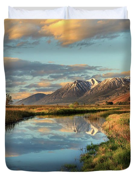 Carson Valley Sunrise Duvet Cover