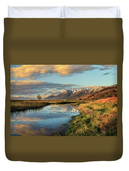 Carson Valley Sunrise Duvet Cover
