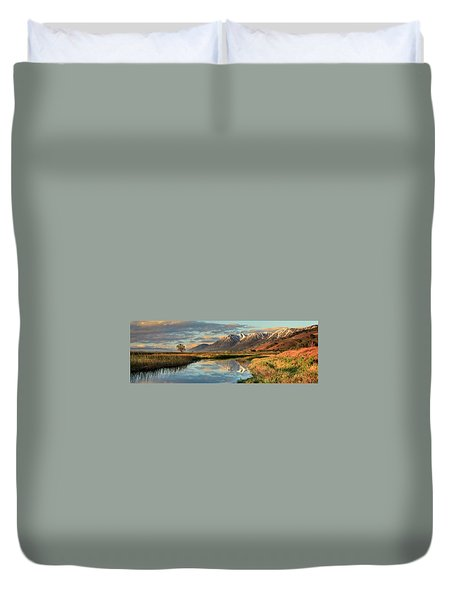 Carson Valley Sunrise Panorama Duvet Cover