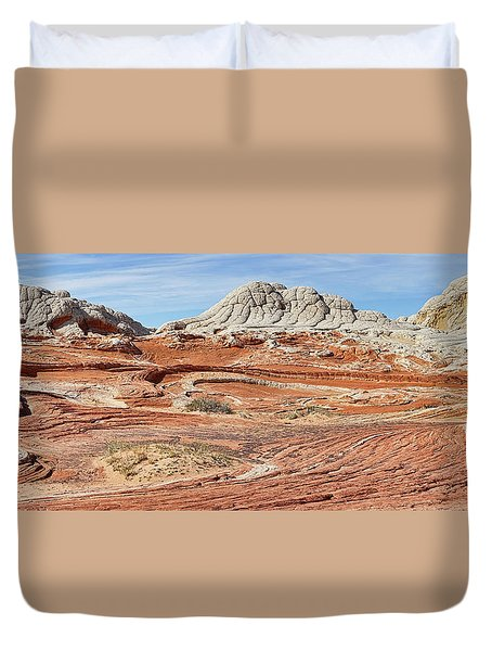 Duvet Cover featuring the photograph Carved In Stone Pano 2 by Theo O'Connor