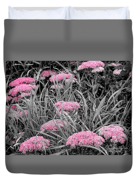 Carved Pink Butterfly Bush Duvet Cover
