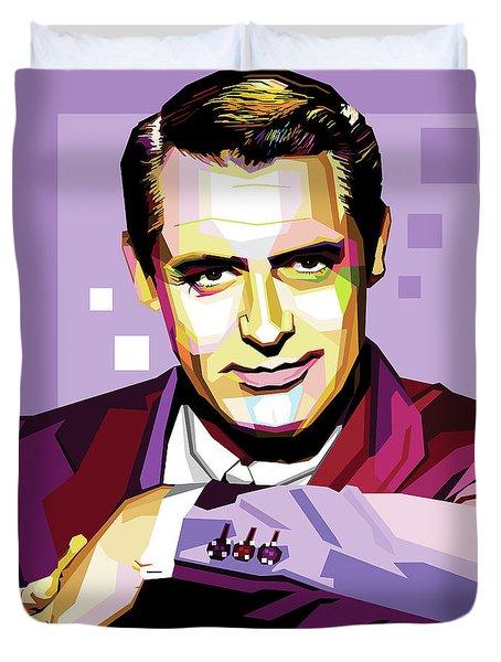 Cary Grant Pop Art Duvet Cover