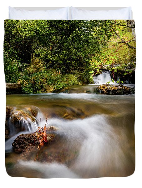 Duvet Cover featuring the photograph Cascades On The Provo Deer Creek by TL Mair