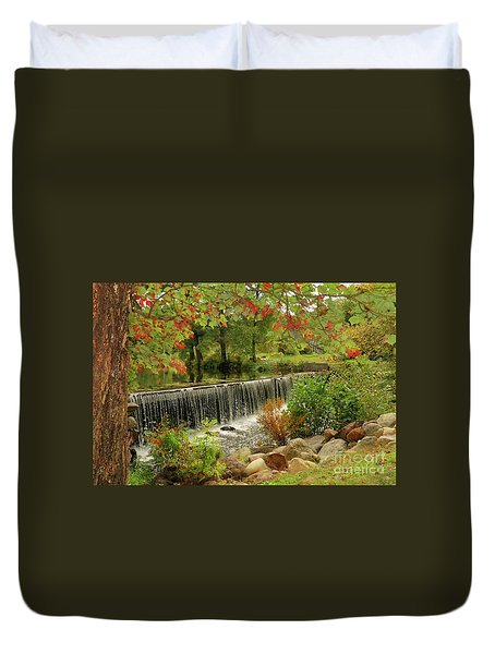 Duvet Cover featuring the photograph Cass Dam by Debbie Stahre