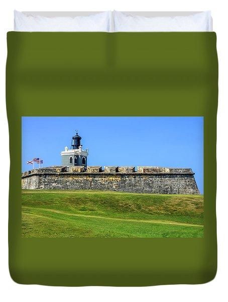 Duvet Cover featuring the photograph Castillo San Felipe Del Morro, Old San Juan, Puerto Rico by Dawn Richards