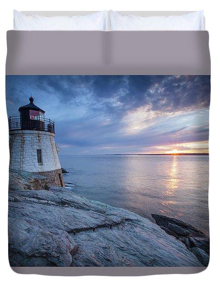 Castle Hill Light Sunset Duvet Cover