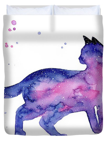 Cat In Space Duvet Cover