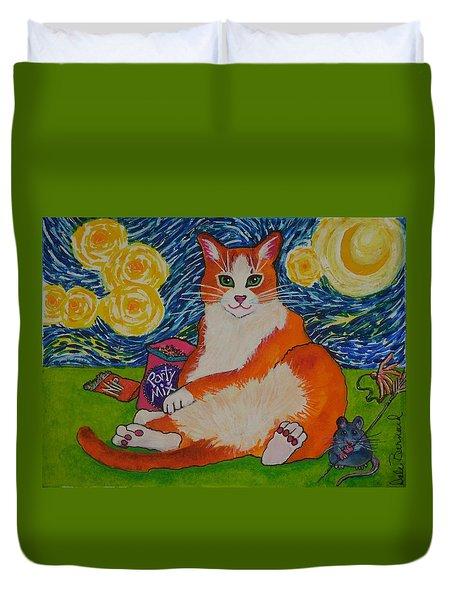 Cat Nipped  Duvet Cover