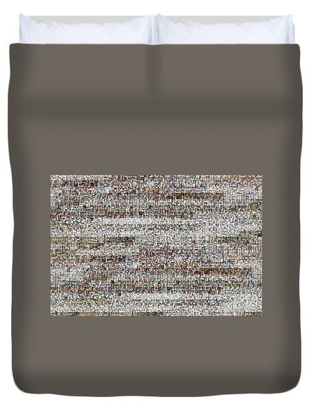 Cataloged Moments Duvet Cover