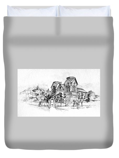 Cathedral Basilica Of St. Francis Of Assisi - Santa Fe, New Mexico Duvet Cover