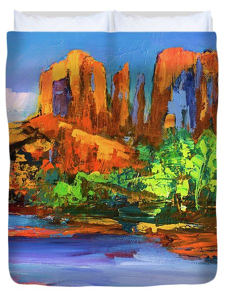Cathedral Rock Afternoon - Sedona Duvet Cover
