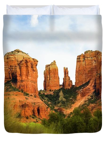 Cathedral Rock Back O' Beyond View Duvet Cover
