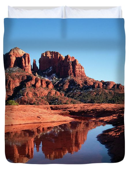 Cathedral Rock Reflection II Duvet Cover