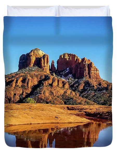 Cathedral Rock Reflection Duvet Cover
