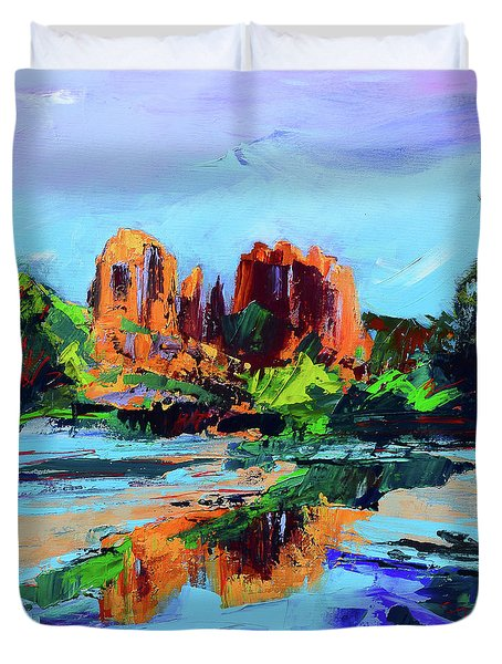 Cathedral Rock - Sedona - Square Version Duvet Cover