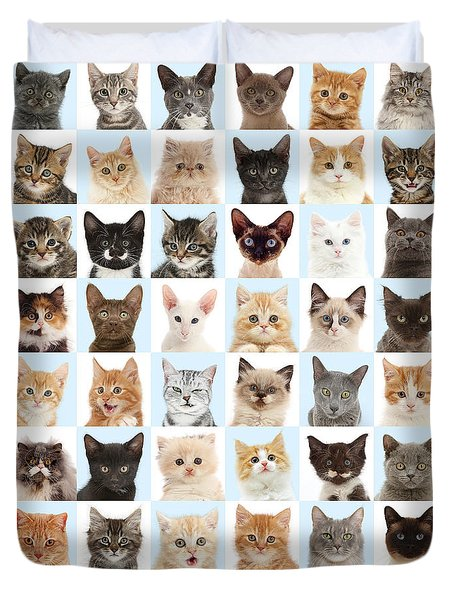 Duvet Cover featuring the photograph Cats Or Chess by Warren Photographic