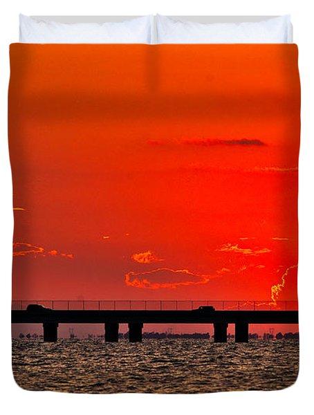 Causeway Sunset Duvet Cover