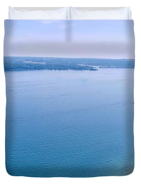 Cayuga From Above Duvet Cover