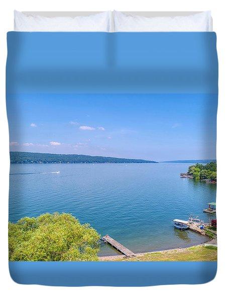 Cayuga Lake Duvet Cover