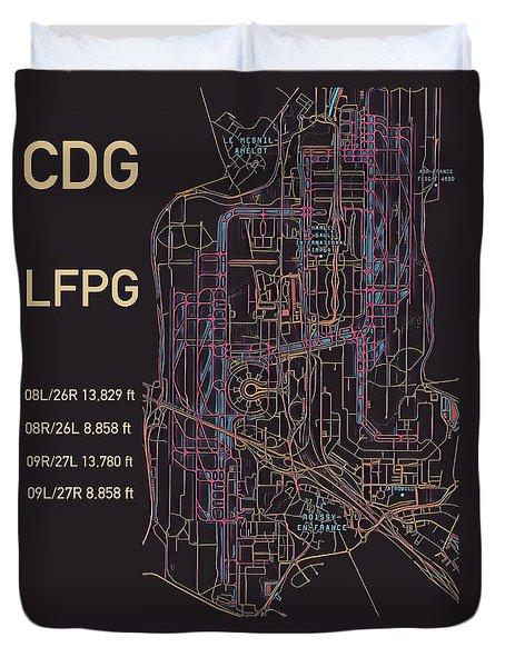 Cdg Paris Airport Duvet Cover