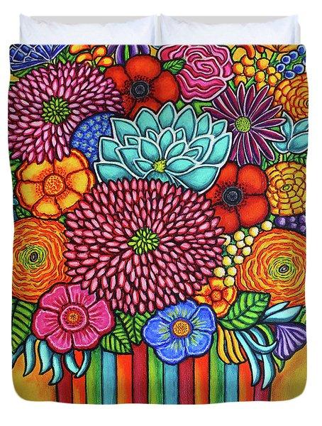 Celebration Bouquet Duvet Cover