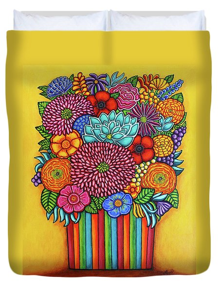 Celebration Bouquet Duvet Cover