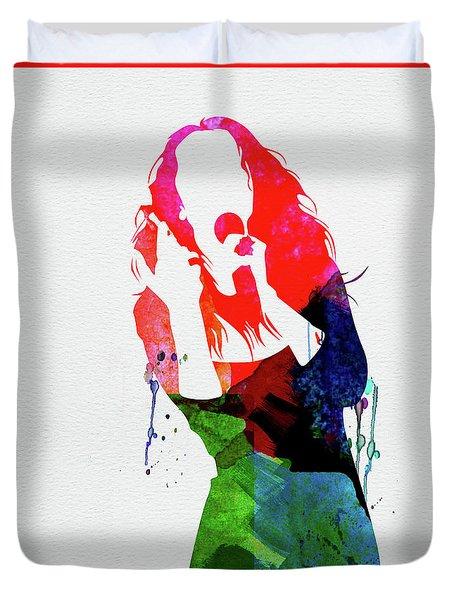 Celine Watercolor Duvet Cover