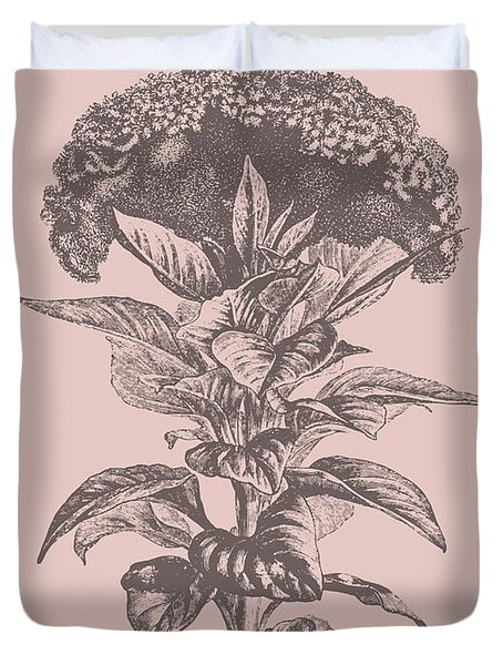 Celosia Blush Pink Flower Duvet Cover