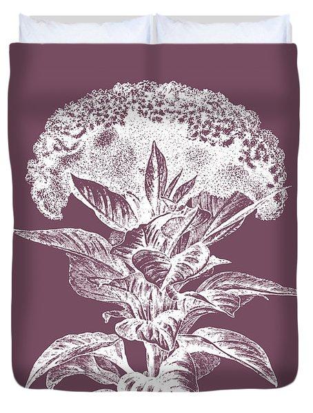 Celosia Purple Flower Duvet Cover
