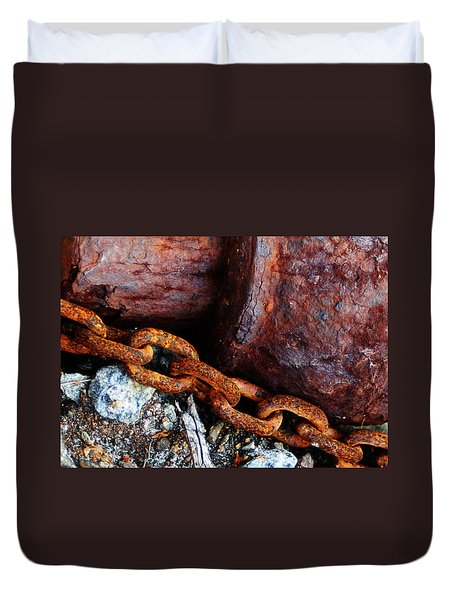 Chained To The Past Duvet Cover